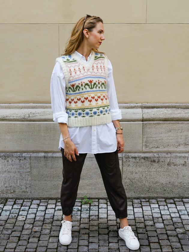 Trendmix: Pullunder und Leder