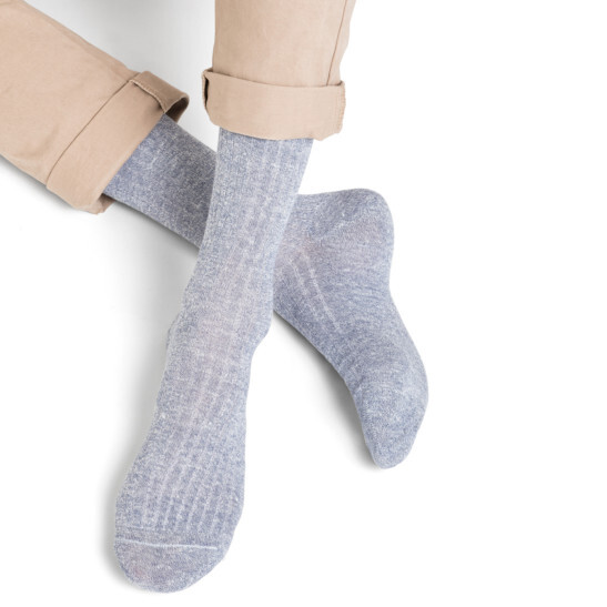 Ribbed Linen & Cotton Socks