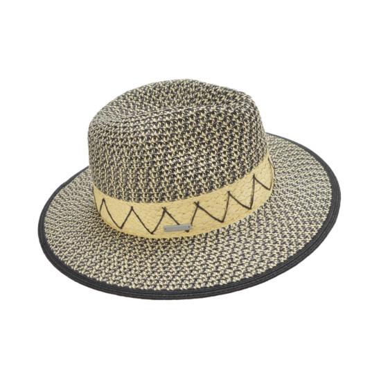 Fedora mit Stickerei