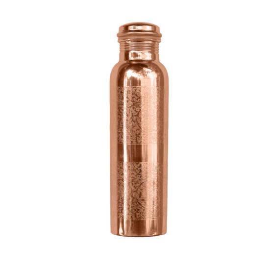 Kupferwasserflasche Graviert 900 ml