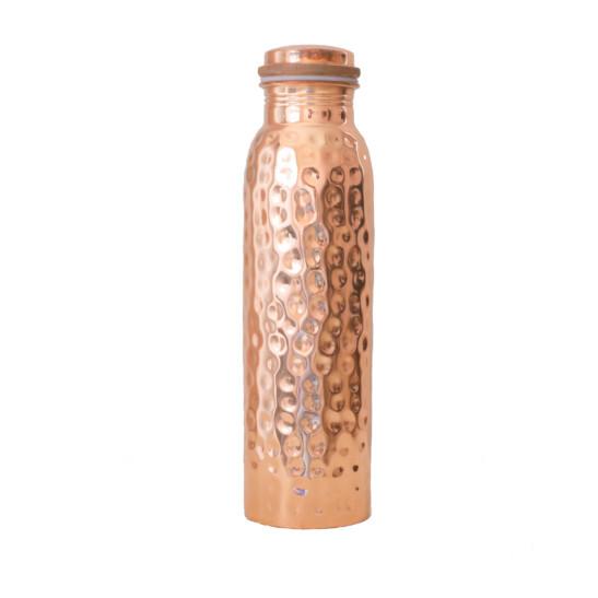 Kupferwasserflasche Hammered 900 ml