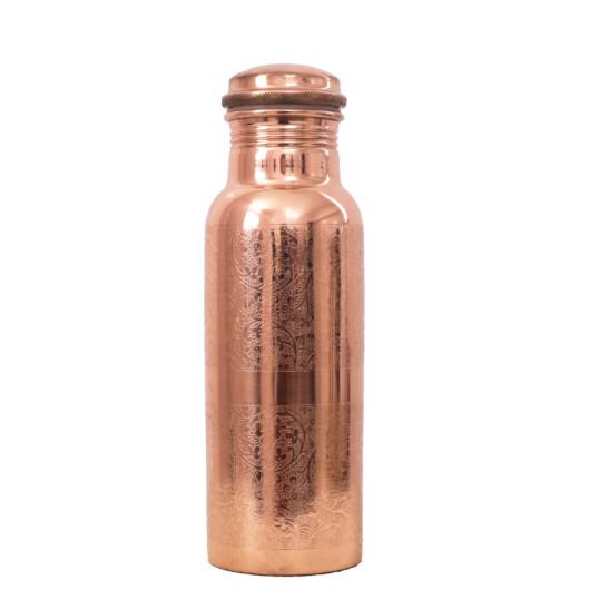 Kupferwasserflasche Graviert 600 ml