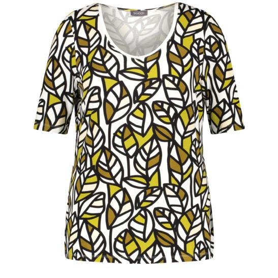 Shirt mit frischem Blätterdruck
