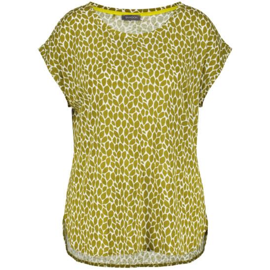 Leinen-Viskose Shirt mit Avocado-Druck