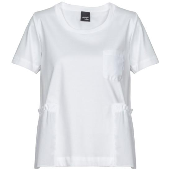 Modernes BasicShirt mit angesetztem Volant