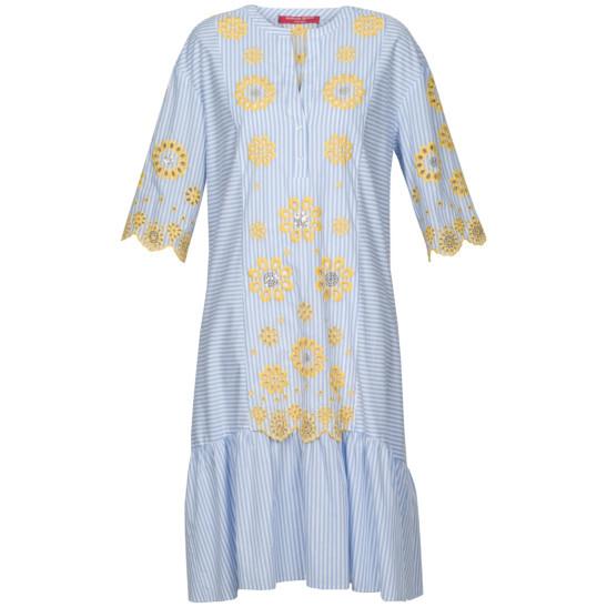 Kleid in moderner Midi-Länge aus reiner Baumwolle
