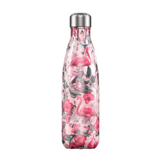 Trinkflasche Chilly´s mit Flamingos