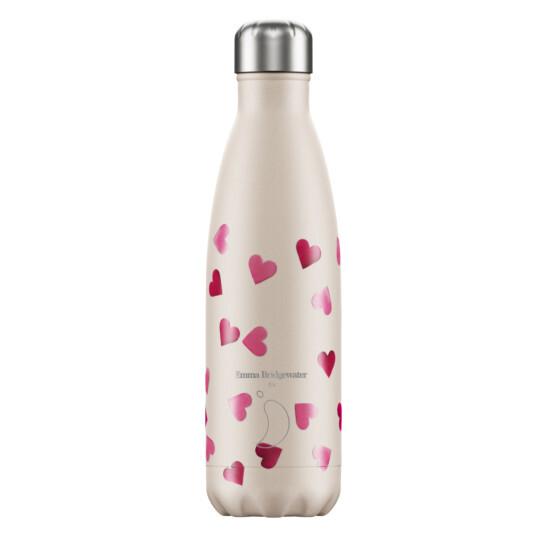 Trinkflasche Chilly´s mit Herzen