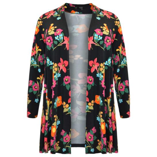 Jacke mit fröhlichem Blumendruck