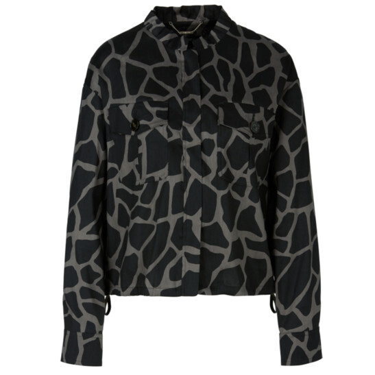 Jacke aus Leinenmix