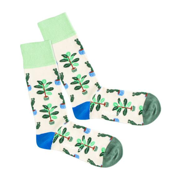 Cream Plants Socke