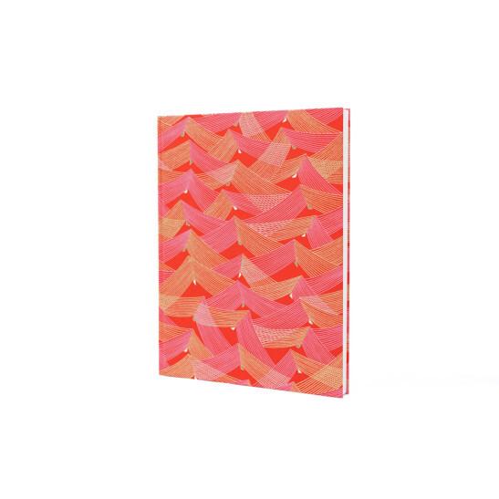 Notizbuch Tokyo Memo Chiyogami 17x22cm 120 S. Saitenspiel gold/pink
