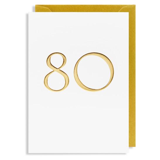Grußkarte 80